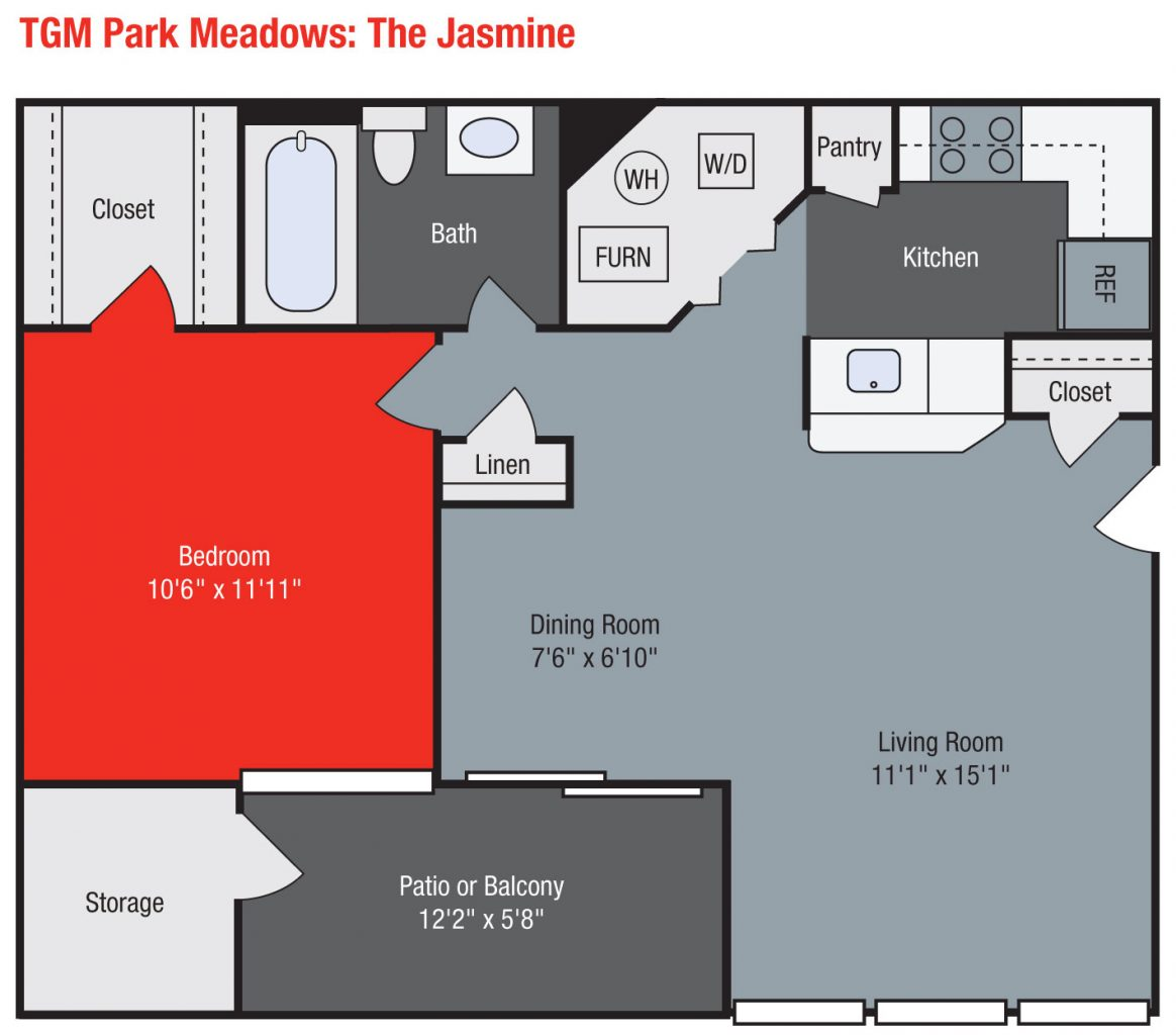 Apartments For Rent TGM Park Meadows - Jasmine