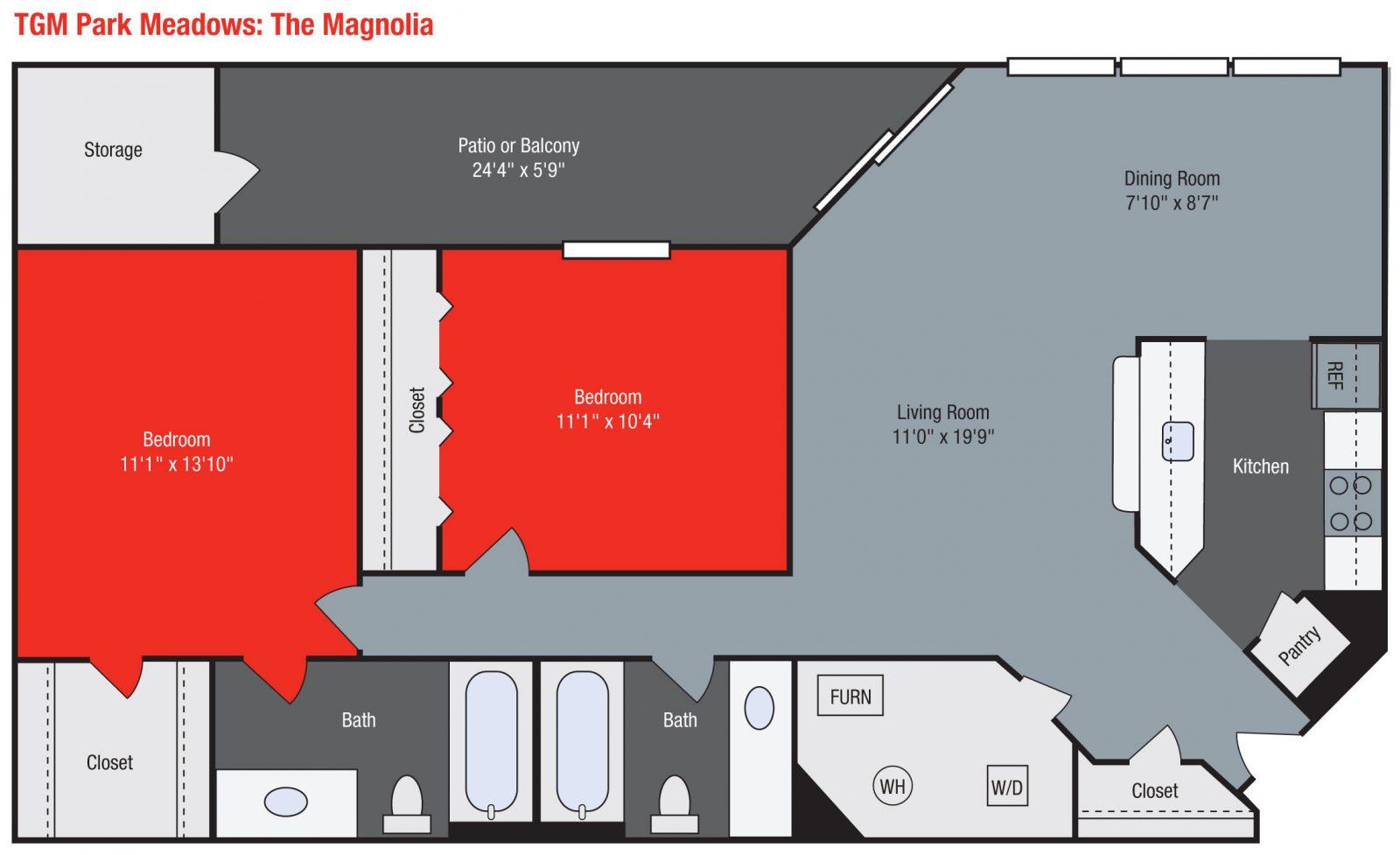 Apartments For Rent TGM Park Meadows - Magnolia