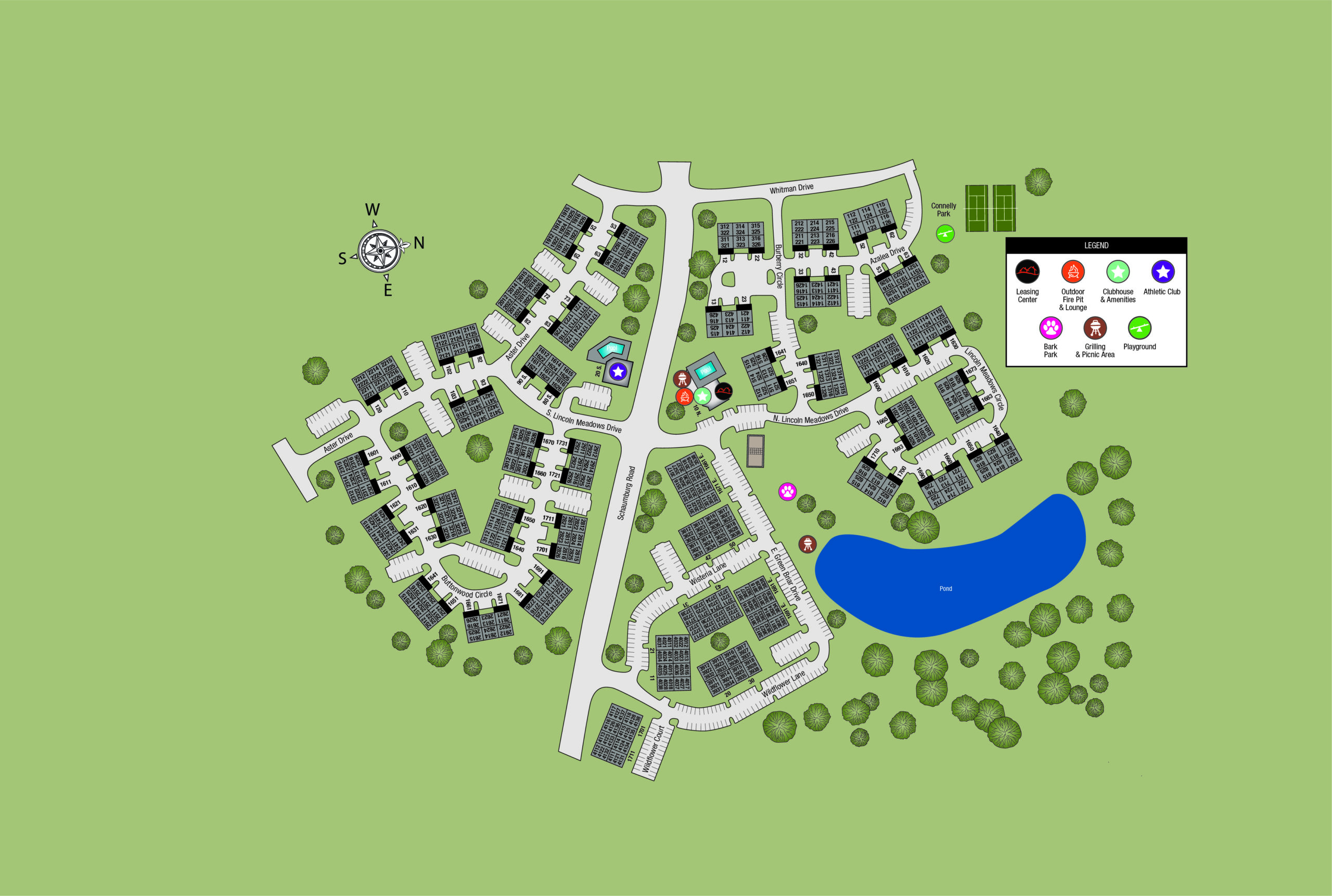 This image shows the map of TGM Meadow View Apartments in Columbus, OH